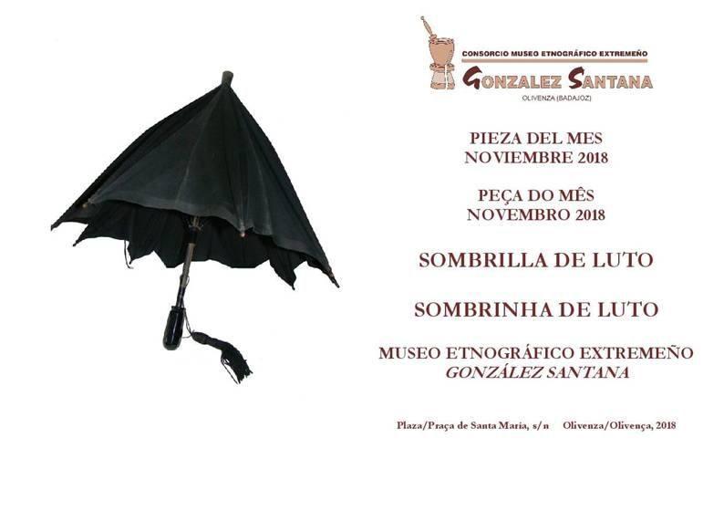 Una sombrilla de luto, pieza del mes de octubre de 2018 en el Museo de Olivenza