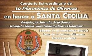 La Filarmónica de Olivenza celebrará este sábado su concierto de Santa Cecilia
