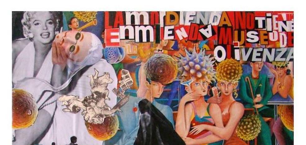 El Museo de Olivenza expone collages del artista pacense Pedro de las Heras