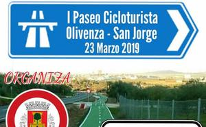 Este sábado, I Paseo Cicloturista Olivenza-San Jorge de Alor
