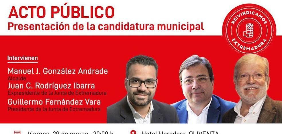 El PSOE de Olivenza presentará este viernes su lista para las elecciones municipales