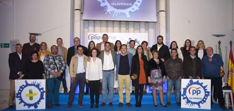 El Partido Popular de Olivenza da a conocer su candidatura municipal encabezada por Berna Píriz