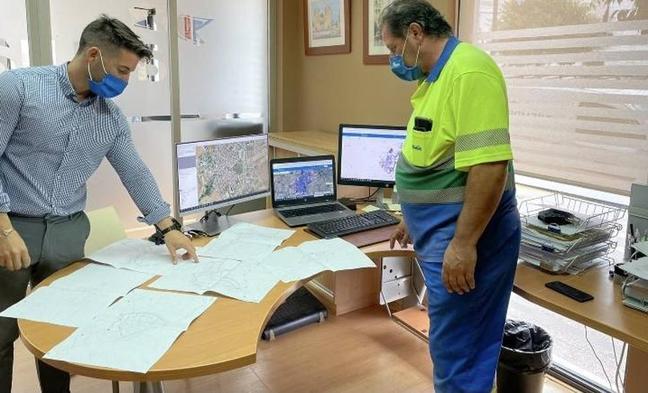 Aqualia actualiza el mapa digital de las tuberías de Olivenza