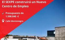El Sexpe construirá un centro de empleo en Olivenza con un presupuesto de 1,5 millones