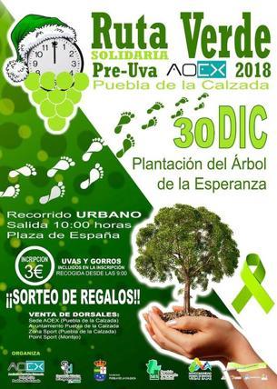 El próximo 30 de diciembre se celebra la I «Ruta Verde Solidaria» en Puebla de la Calzada