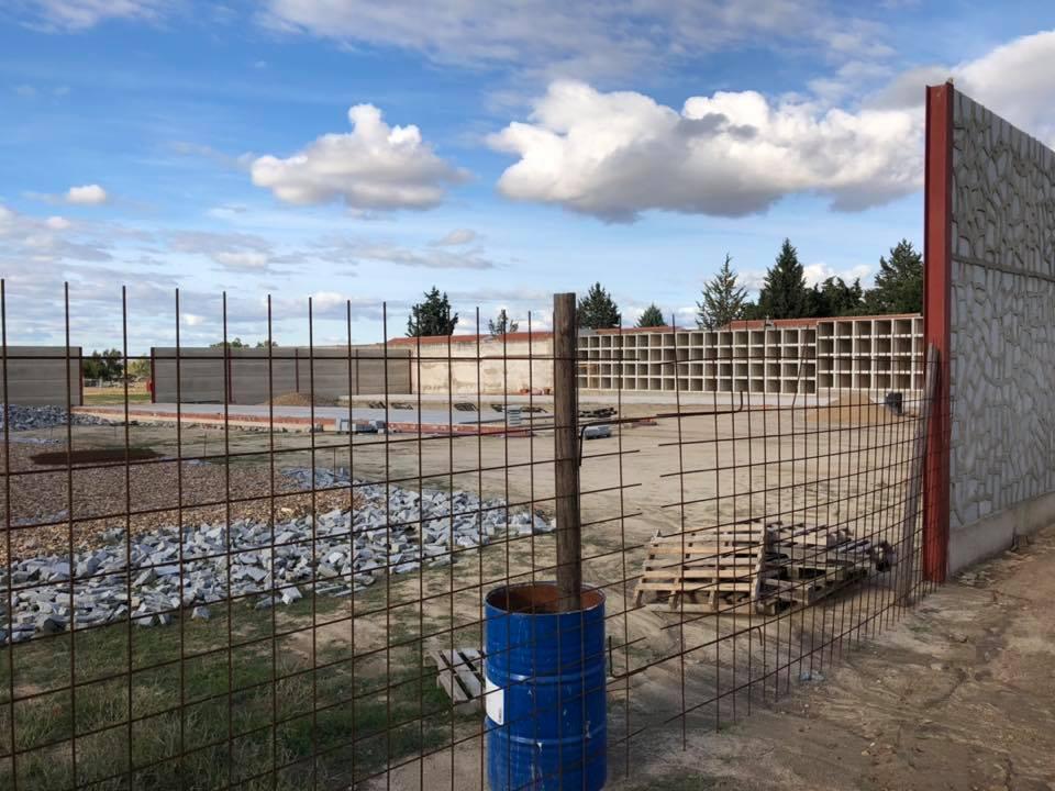 La ampliación del cementerio toma forma en la 1ª fase de las obras