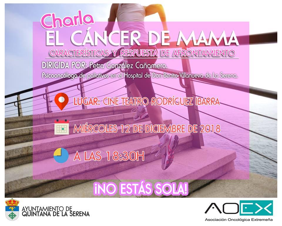 La localidad ofrece mañana una charla sobre el cáncer de mama