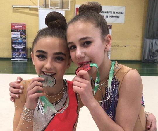 Las gimanastas Maria Murillo y Sara Bueno obtuvieron medalla en los JUDEX