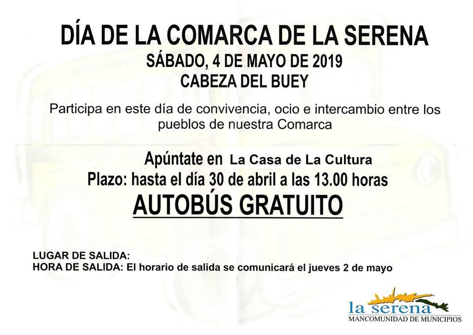 La mancomunidad ofrece un servicio de autobuses gratuitos para asistir al Día de la Comarca