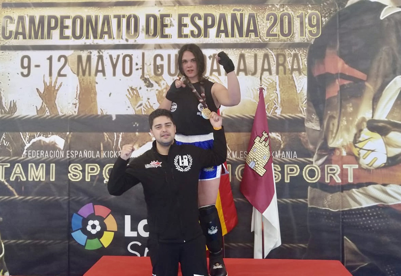 La quintanense Elena Fortuna, campeona de España de kickboxing en su categoría