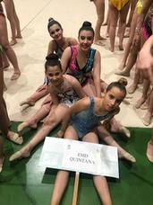Tres gimnastas del equipo local se subieron al podio en una exhibición en Mérida