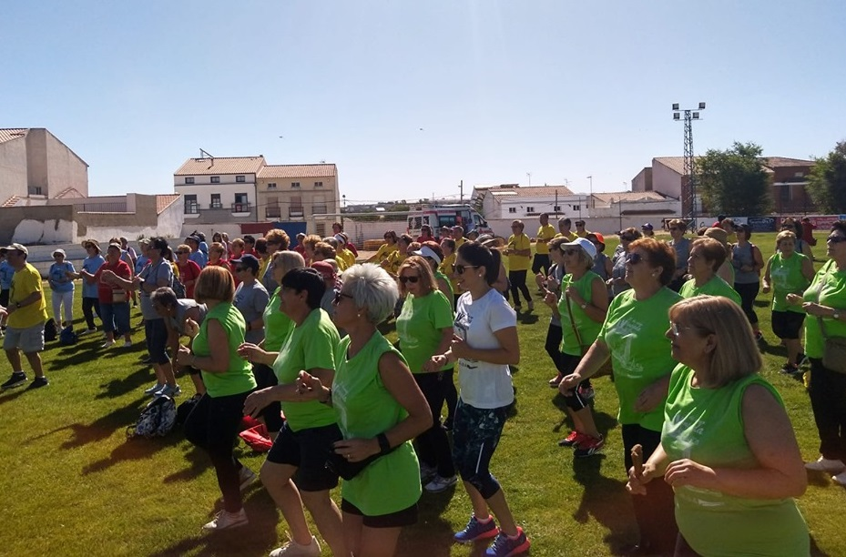 Cerca de doscientas personas de la comarca participaron en las IV de Olimipadas de Mayores de Quintana