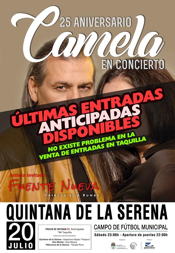 Multitud de personas cantarán al ritmo de Camela el próximo 20 de julio en Quintana