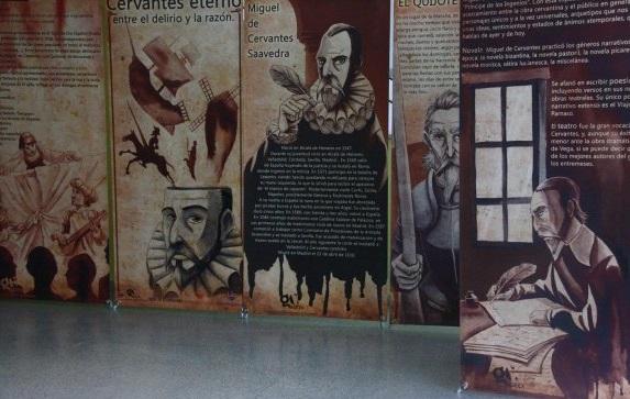La localidad acogió la muestra 'Cervantes Eterno. Entre el delirio y la razón'
