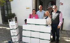 210 litros de aceite de oliva para Cáritas y Zafra Solidaria