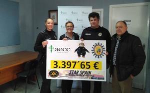 La Policía Local de Zafra recauda más de 3.300 euros contra el cáncer infantil