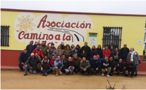 Visita del CEPA de Montijo a la asociación Camino a la Vida