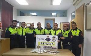 La Policía Local de Los Santos participa en una campaña nacional contra el cáncer infantil
