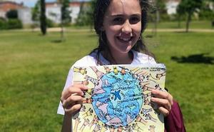 Una pacense gana un concurso de dibujo sobre voluntariado