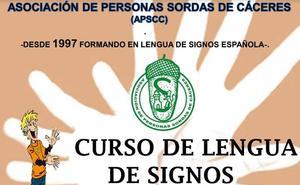 Cursos para aprender lengua de signos en Cáceres