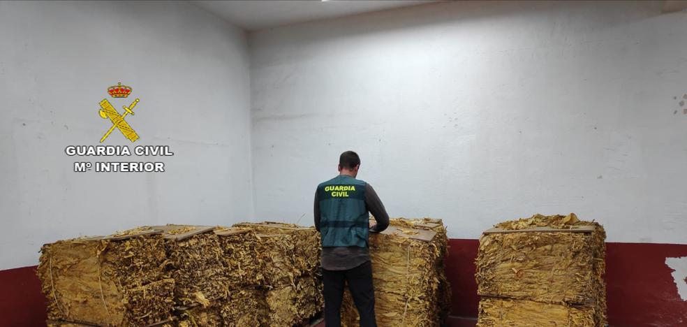 La Guardia Civil aprehende 1.575 kilos de tabaco de contrabando valorados en 252.000 euros