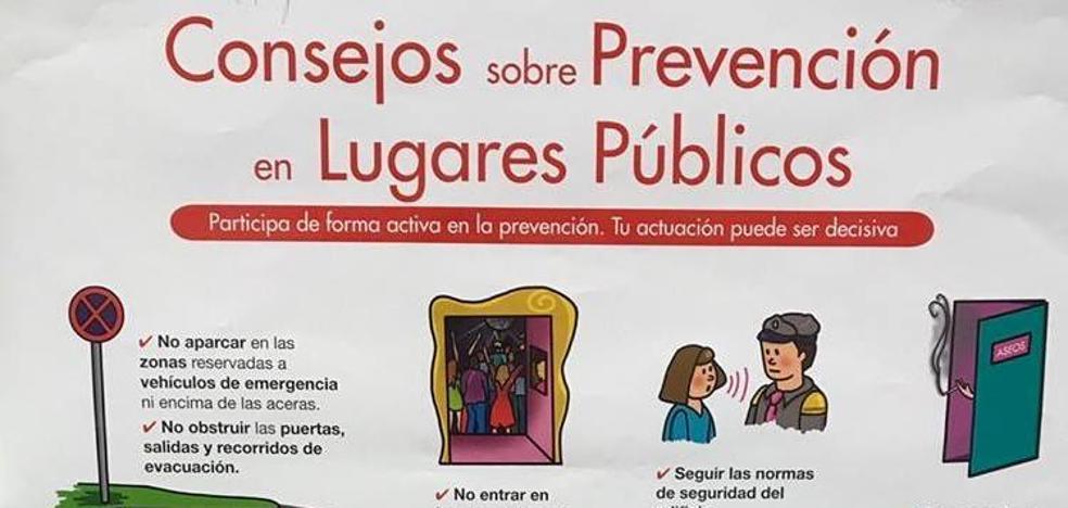Charla sobre consejos de prevención en lugares públicos