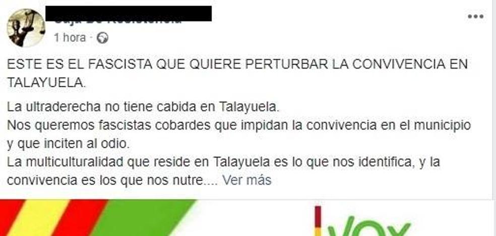 El Coordinador de Vox Talayuela denuncia ataques a través de redes sociales