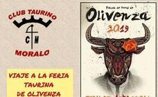 Este domingo, el Club Taurino Moralo organiza un viaje a la feria taurina de Olivenza