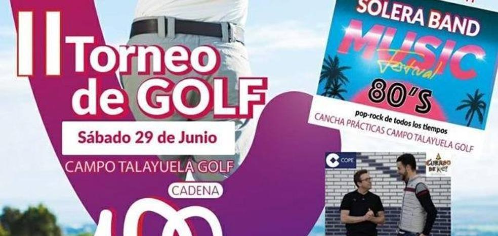 El Torneo de Golf Cadena 100 ofrece esta noche un concierto de Solera Band Music Festival