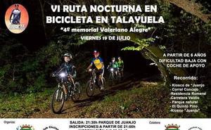 El próximo fin de semana, VI Ruta Nocturna en bici 'Memorial Valeriano Alegre'