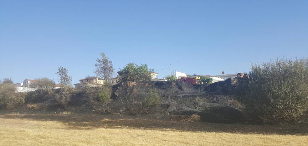 Un incendio en las cercanías de la calle del Cementerio vuelve a disparar la alerta en la zona de viviendas