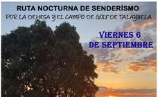 El día 6 de septiembre se celebra una nueva ruta senderista nocturna