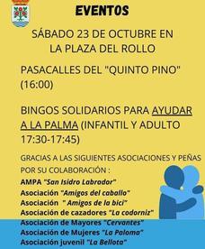 Rosalejo organiza actividades este sábado para ayudar a La Palma