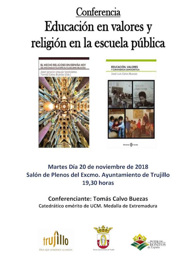 La charla 'Educación en valores y religión en la escuela pública' y una exposición, para hoy