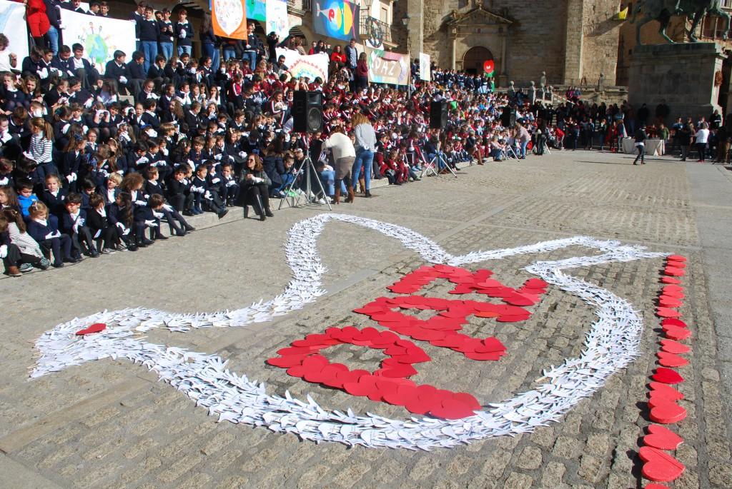 Los estudiantes se unen por la paz
