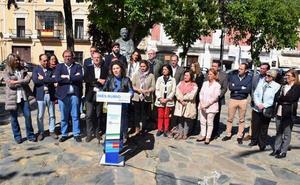 Los líderes del PP arropan a la candidata a la Alcaldía, Inés Rubio, en su presentación