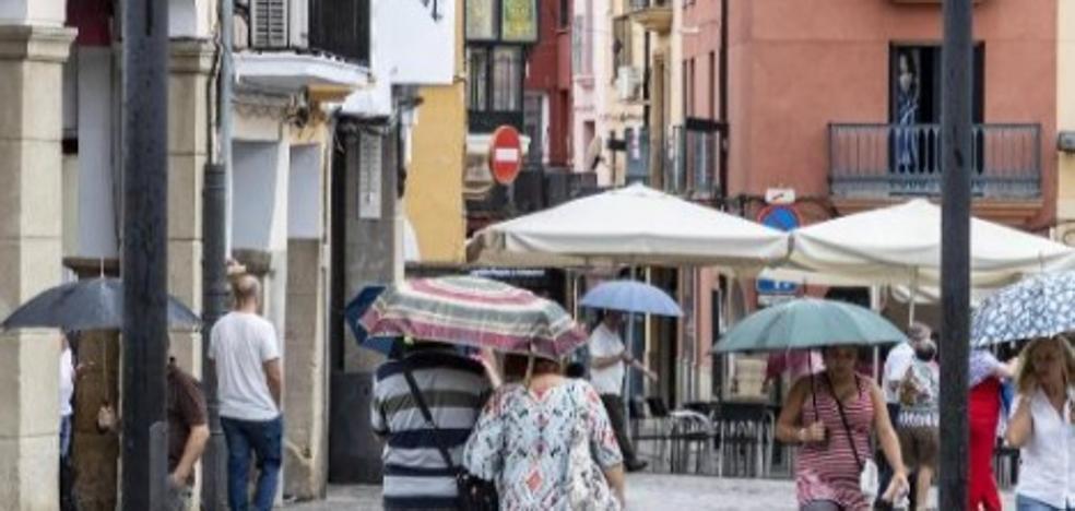 Las tormentas dejan 31,5 litros en Trujillo, 27 en Navalmoral y algunas inundaciones