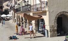 Hosteleros de la plaza Mayor cerrarán el 23 de octubre, al menos, por el rodaje de 'La casa del dragón'