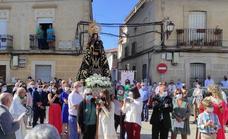 Huertas de Ánimas recupera su procesión con la imagen de la Patrona