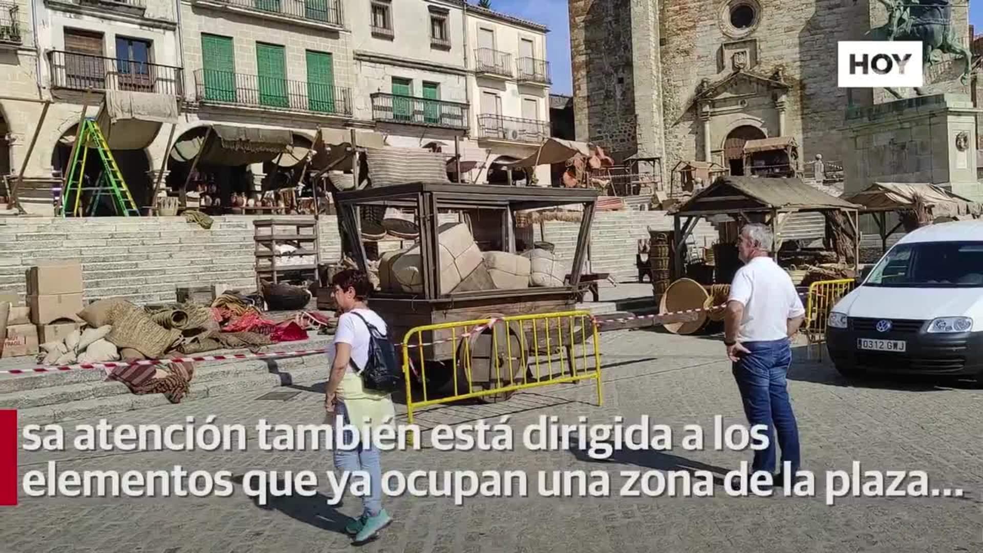 La plaza Mayor se prepara para 'La casa del dragón'