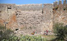 La recuperación del lienzo caído de la muralla ya está en marcha