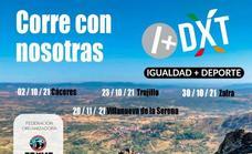 El programa 'Corre con nosotras', de la Federación Extremeña de Montaña, hace su parada hoy en la ciudad