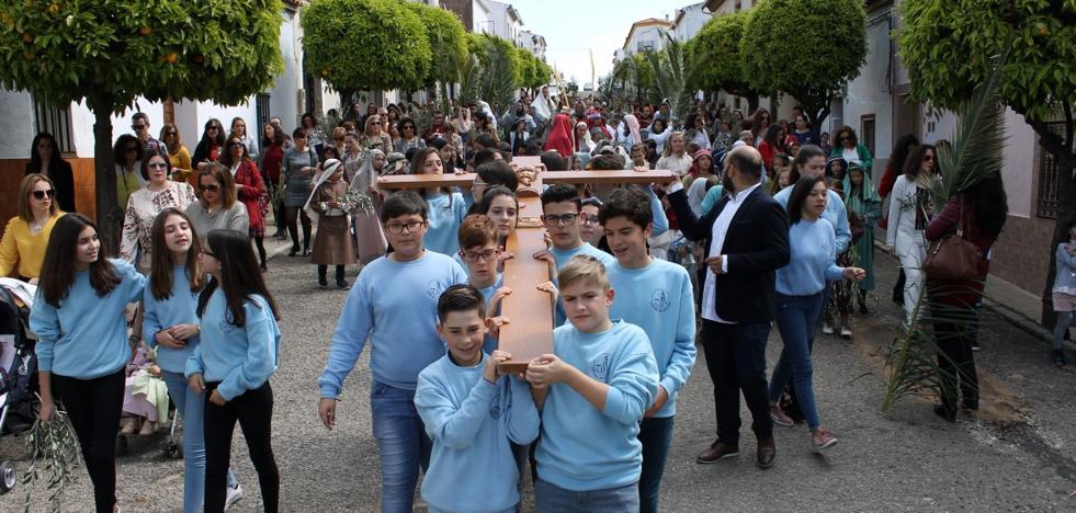 La Semana Santa de Valverde se inicia con el Domingo de Ramos