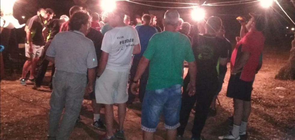 Los pacenses Paco Rangel y Manuel Manzano vencen en el concurso de pesca nocturno