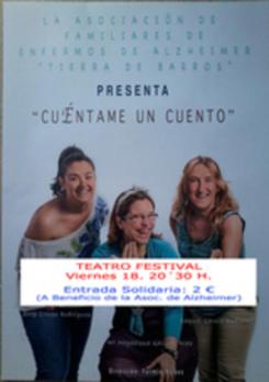 El próximo viernes 18, a las 20´30 horas, en el Teatro Festival de Villafranca, se representará la obra de teatro 'Cuéntame un cuento'