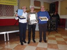 La Asociación de Comerciantes de Villafranca homenajeó a tres de sus socios jubilados