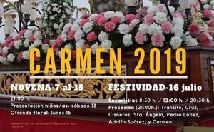 Comenzó el novenario de preparación para la Festividad de la Virgen del Carmen 2019
