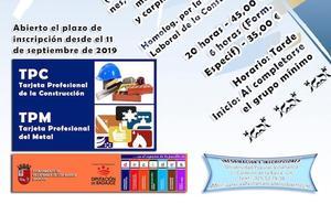 La Universidad Popular de Villafranca oferta varios cursos de prevención de riesgos laborales