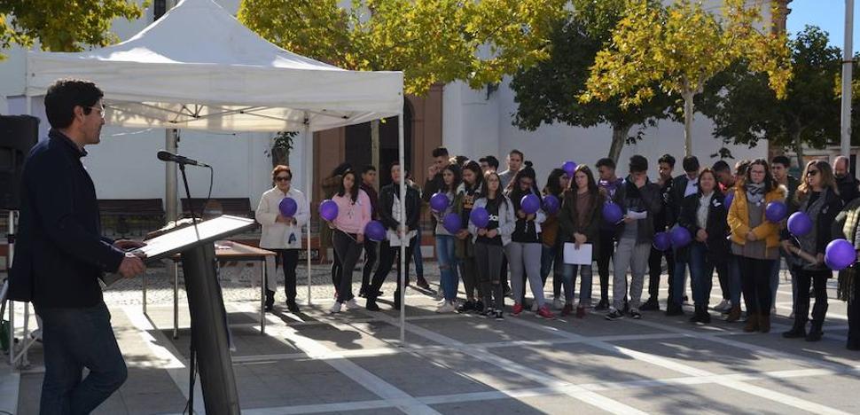 La plaza acogió la conmemoración del 25N contra la violencia machista