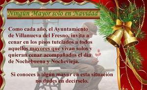 El Ayuntamiento abre la inscripción para su campaña 'Ningún mayor solo en Navidad'